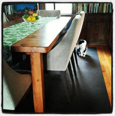 custom dining room table via www.www.goodfoodstories.com