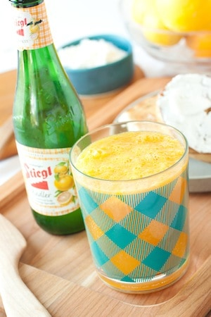 orange juice shandy - a breakfast cocktail, via goodfoodstories.com