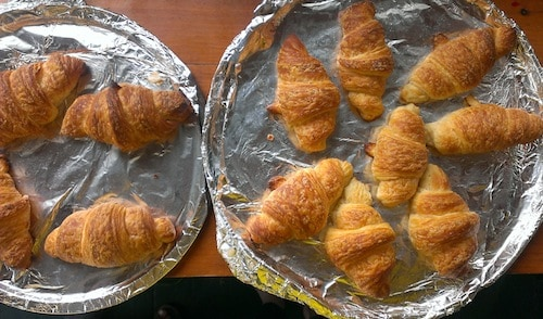homemade croissants, via www.www.goodfoodstories.com
