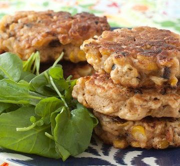 corn and shiitake fritters, via goodfoodstories.com