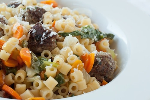 one-pot italian wedding soup pasta - via goodfoodstories.com