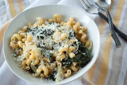 one-pot kale fennel pasta