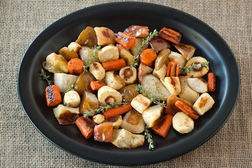 roasted root vegetables with cider butter, via goodfoodstories.com