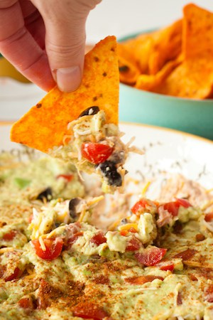 seven layer dip, via www.www.goodfoodstories.com