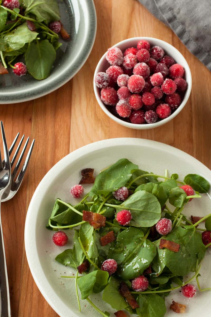 sugared cranberry salad