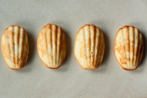 lemon brown butter madeleines