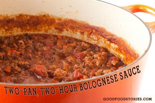 2-hour bolognese sauce, via goodfoodstories.com