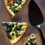 caramelized onion and spinach tart