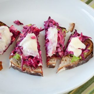beet and blue cheese sandwich, via goodfoodstories.com