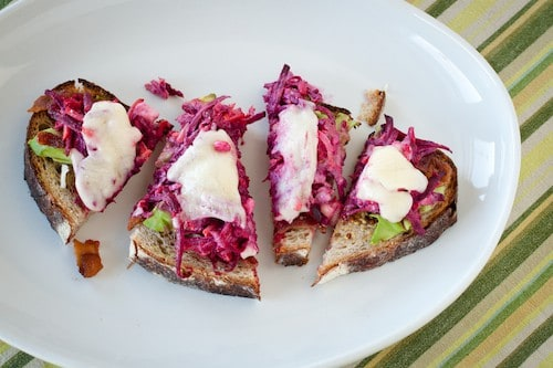 beet and blue cheese sandwich, via www.www.goodfoodstories.com