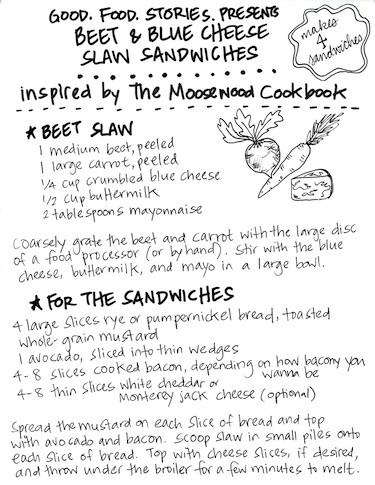 beet slaw sandwich a la Moosewood, via www.www.goodfoodstories.com