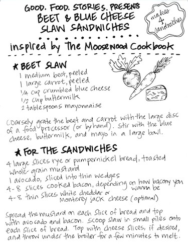 beet slaw sandwich a la Moosewood, via goodfoodstories.com