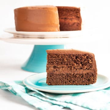 malted chocolate rye cake