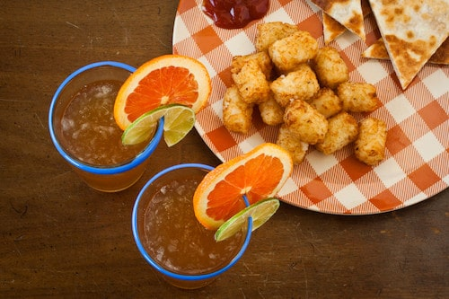 Napoleon Dynamite cocktail and tots