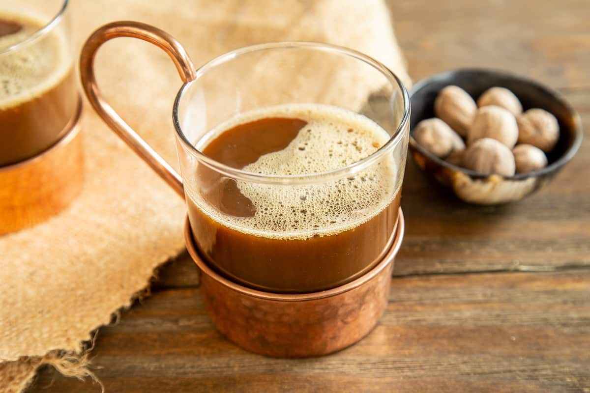 Hot Ale Flip, a traditional Colonial-era drink, combines rum, molasses, and beer for a decidedly warming cocktail combination.