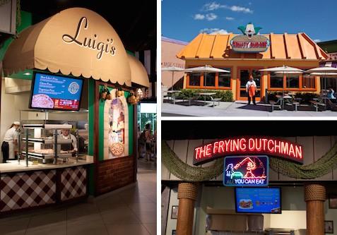 Simpsons food court at Universal Studios Florida, via www.www.goodfoodstories.com