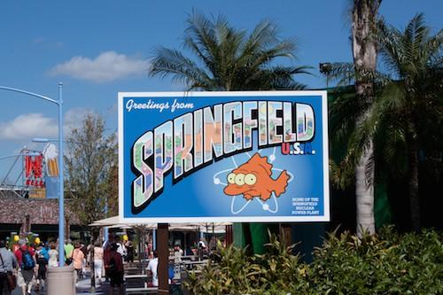 Simpsons Springfield, USA at Universal Studios Florida, via www.www.goodfoodstories.com