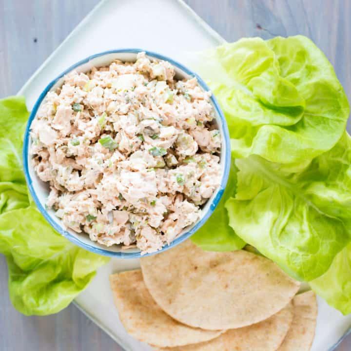 caper tuna salad with lettuce