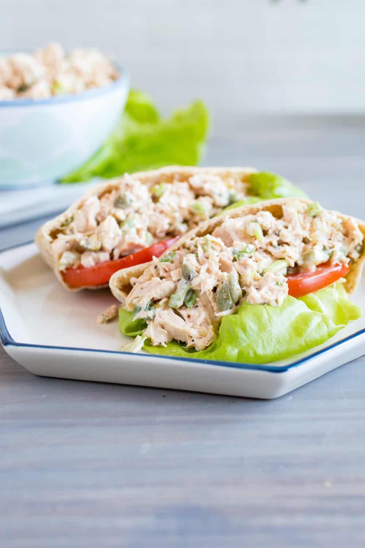 tuna salad in pita bread