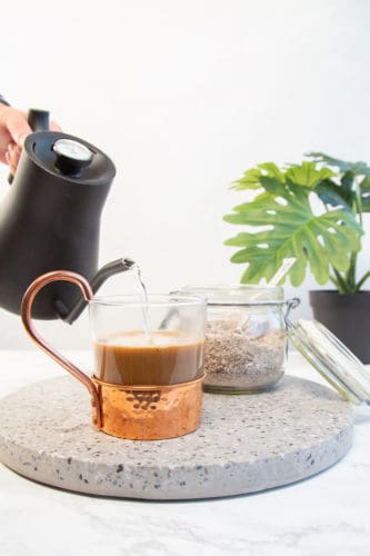 making homemade instanf coffee