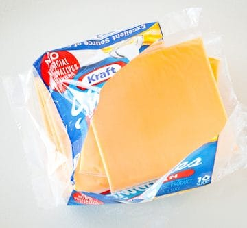 processed cheese slices, via goodfoodstories.com
