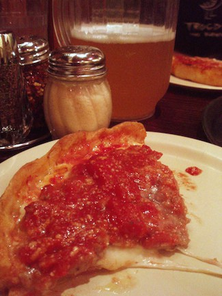 Lou Malnati's Chicago deep dish pizza, via goodfoodstories.com