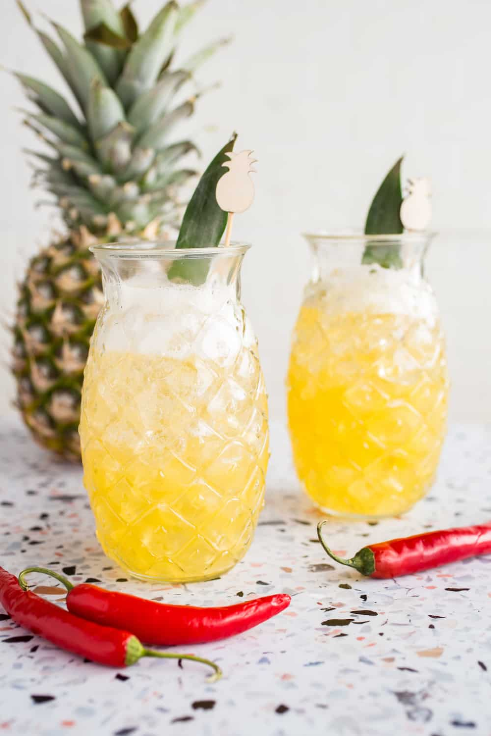 Pineapple-Chile Beer Cocktail with Hefeweizen