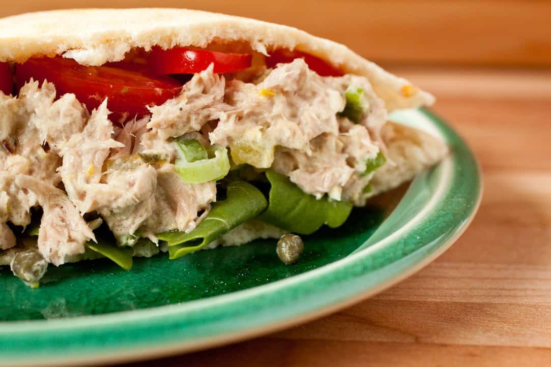 caper tuna salad, via goodfoodstories.com