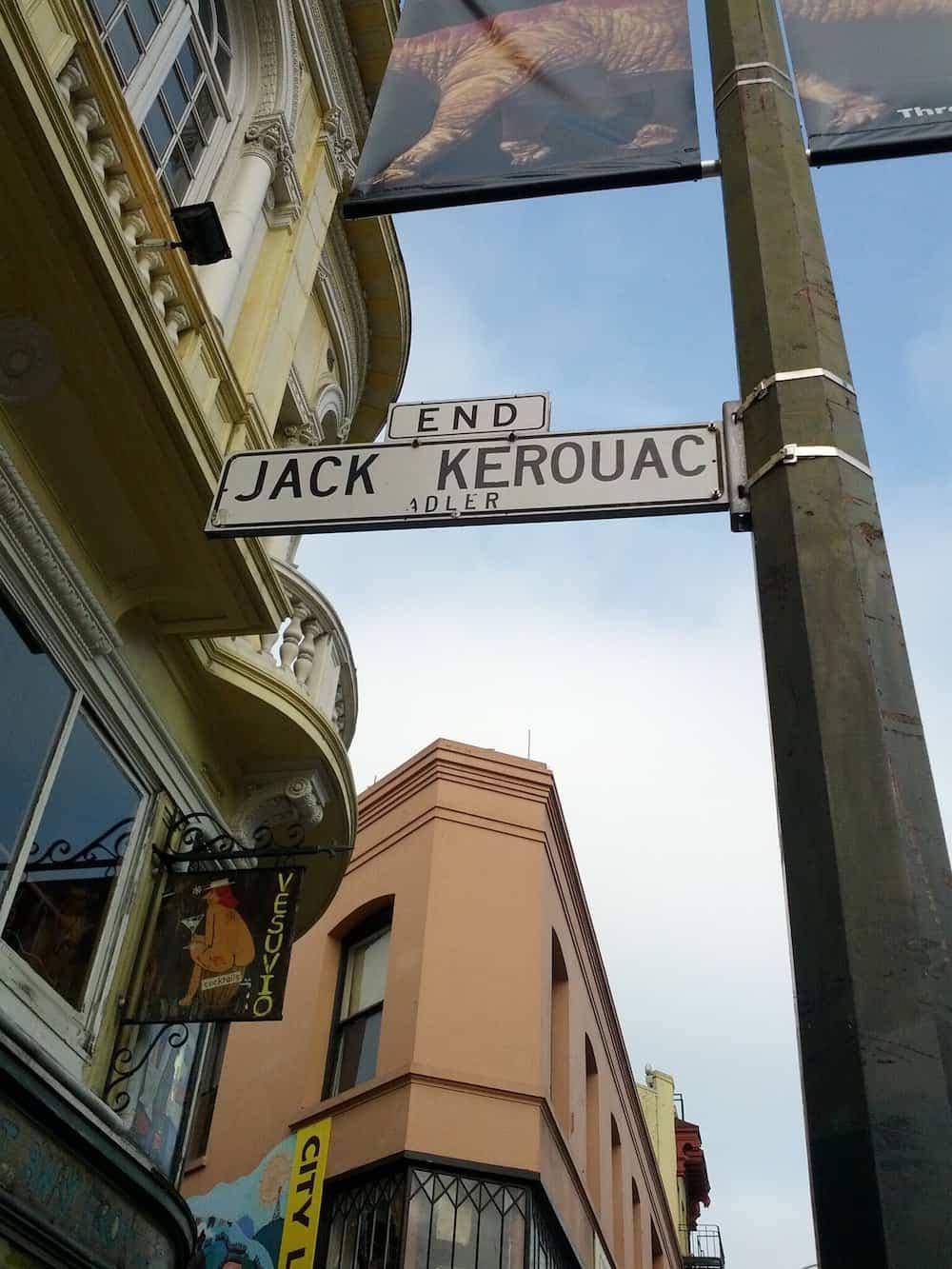 Jack Kerouac Alley sign
