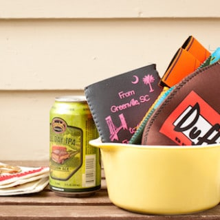 don't forget the koozies! - via goodfoodstories.com