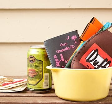 don't forget the koozies! - via www.www.goodfoodstories.com