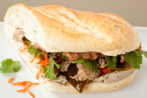 banh mi with rhubarb compote, via goodfoodstories.com