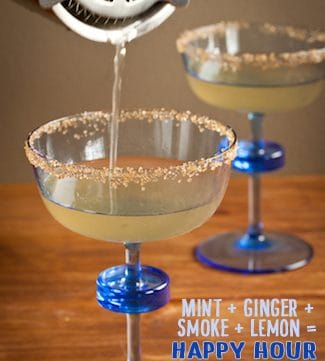 smoky mint ginger-ade with bourbon smoked sugar, via www.www.goodfoodstories.com