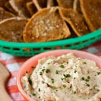 French Onion Dip with Ramps