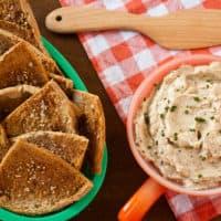 Sesame-Mustard Pita Chips