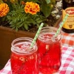 Think Pink! Strawberry-Hibiscus Shandy for Summer