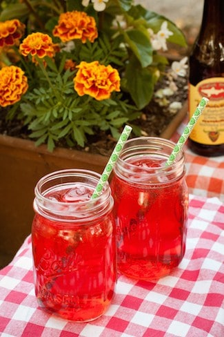 Strawberry-Hibiscus Shandy