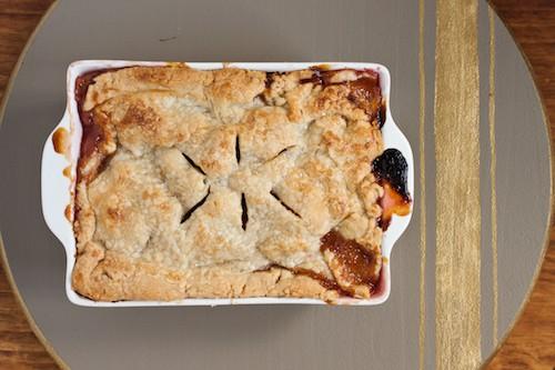 deep dish sour cherry and peach pie, via goodfoodstories.com
