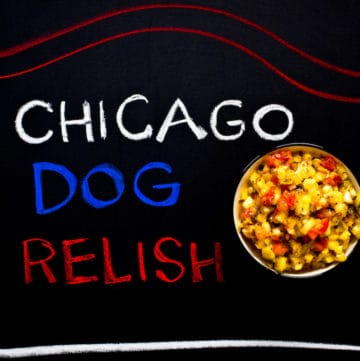 Chicago Dog relish for hot dogs or any of your favorite grilled foods - via goodfoodstories.com