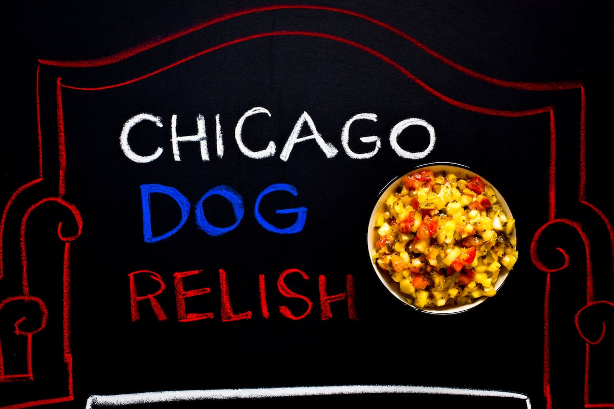 Chicago dog relish for hot dogs or burgers