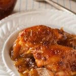 Voila! Single-Serving, No-Mess Dijon Fig Chicken