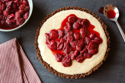 strawberry mascarpone tart with a gingersnap crust from The Messy Baker, via www.www.goodfoodstories.com