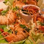 somen noodle-wrapped shrimp at The Little Goat, Chicago - via goodfoodstories.com