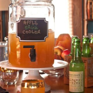 Inspired Bites and an Inspired Cocktail: Apple Sage Cooler