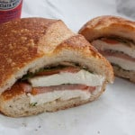 the Caprese sandwich from Bay Cities in Santa Monica, via goodfoodstories.com
