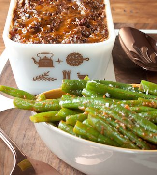 meatloaf and green beans inspired by Practical Magic, via www.www.goodfoodstories.com