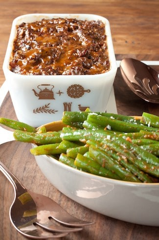 meatloaf and green beans inspired by Practical Magic, via goodfoodstories.com