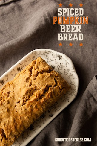 spiced pumpkin beer bread, via goodfoodstories.com