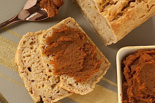 spiced pumpkin beer bread, via www.www.goodfoodstories.com