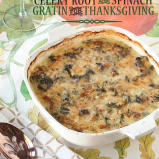 celery root and spinach gratin for Thanksgiving, via goodfoodstories ...